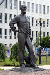 Monument to John James Hughes - founder of Donetsk, Ukraine