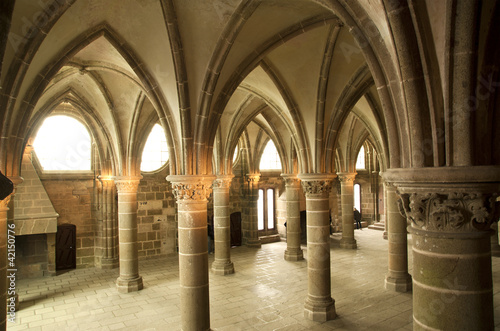 The cloister. Mont Saint-Michel, Normandy, France