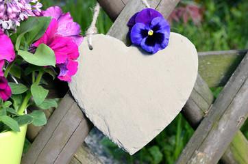 Herz Blumen weiß