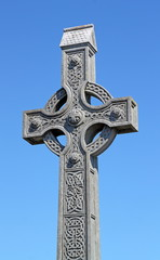 Celtic cross on a blue sky