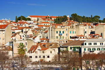 residential houses in Split; Croatia