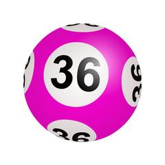 Tirage loto, boule numéro 36
