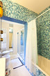 lovely bathroom, tiled wall