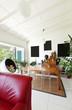 interior loft, furnished living room