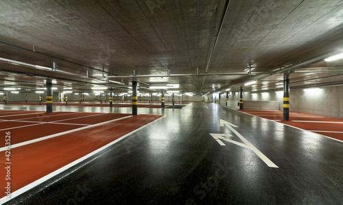 Leinwanddruck Bild new underground parking