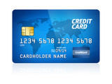 Fototapety Credit Card Isolated