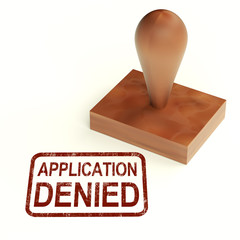 Application Denied Stamp Shows Loan Or Visa Rejected