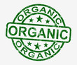 Organic Stamp Shows Natural Farm Food