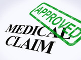 Medical Claim Approved Stamp Shows Successful Medical Reimbursem