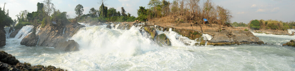 Cascate Don Phapheng del fiume Mekong in Laos