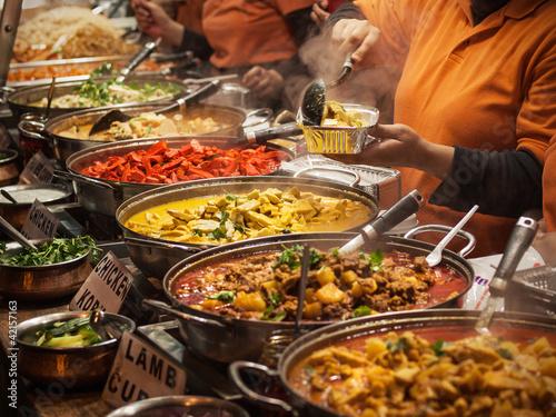 Fototapeten,essen,märkte,indianer,scharf essen