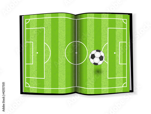Soccer field, book design
