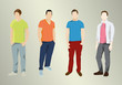4 Silhouetten männlich modern