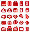 Red Stickers Multimedia