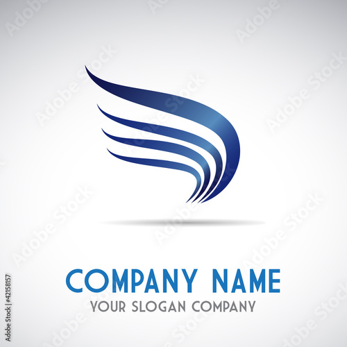 Logo eagle, transport and courier services # Vector