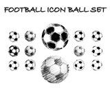Soccer grunge ball set