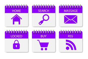 website menu stickers