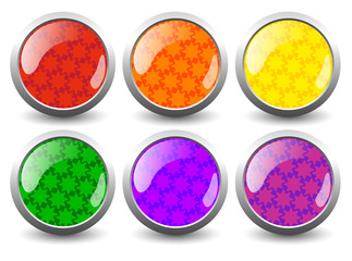 Creative glossy buttons. Vector
