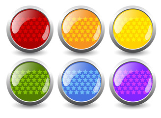 Vector glossy buttons creative