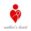 Logo mother's heart # Vector