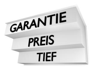 Tief Preis Garantie/ schwarz - 3D
