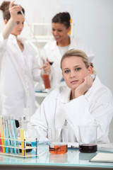 female scientist in a medical lab