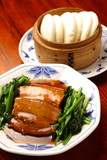 stewed pork with chinese bred poster