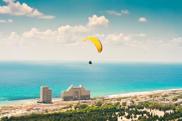 Paraglider in Haifa