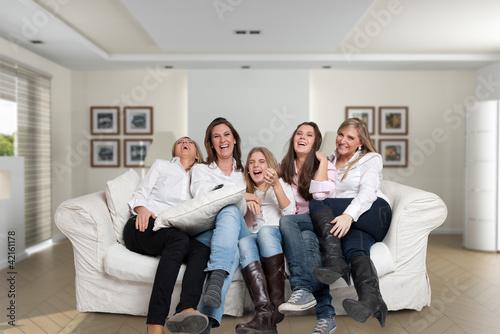 Plagát Family girls fun