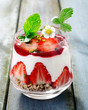 Delicious decorative strawberry dessert