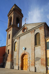 Italy Comacchio village Carmine church