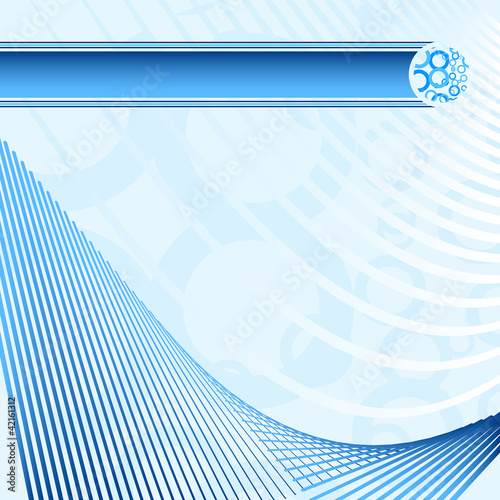 Elegant blue abstract