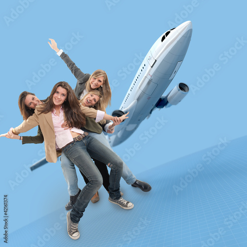Flying girls