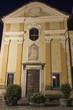 Orta little old church facade by night color image