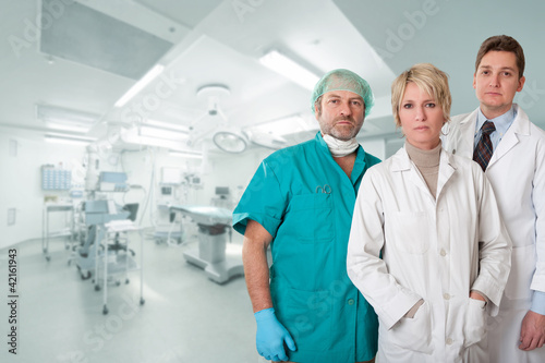 Medical team at operating room