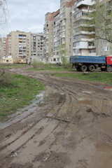 Bad roads in Russia and Ukraine