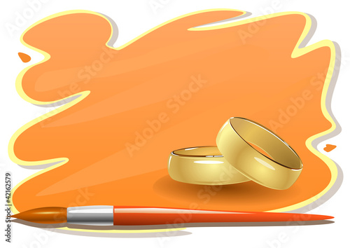 Wedding sticker design
