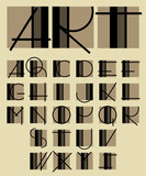 original unique contemporary alphabet design
