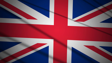 Flag of UK with beautiful lighting