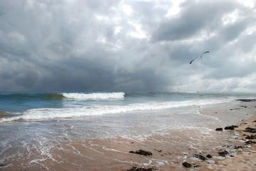 Stormy Northumberland Beach