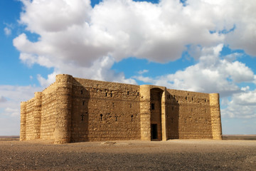 The Kaharana desert castle in east of Jordan, Asia