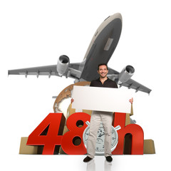 Man and 48 hrs delivery