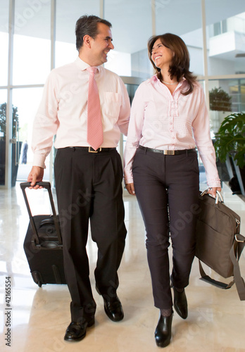 Couple on a business trip