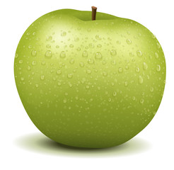 Realistic apple