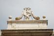 Ravenna,medieval city door Porta Pamphilia Pope symbols.