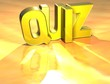 Word Quiz on yellow background
