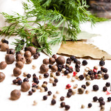 Different peppercorns