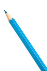 Blue colouring crayon pencil