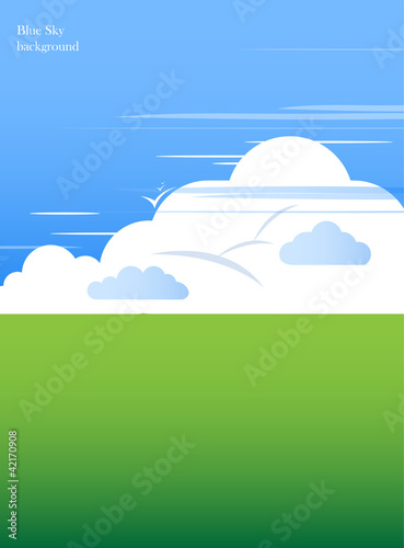 abstract blue sky with clouds background vector