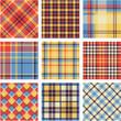 Bright plaid patterns set